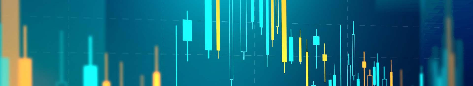 Stock market chart technology vector blue background